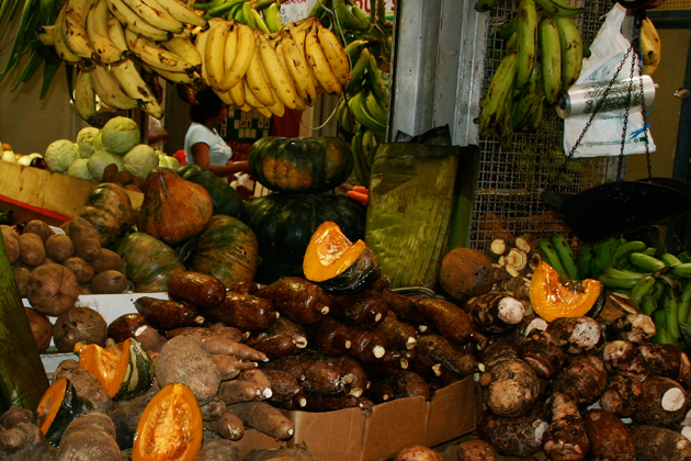A selection of viandas in a Puerto Rican market. (David Taylor Photo)