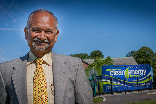 Professor Prabhakar Singh, director of UConn's Center for Clean Energy Engineering, which has a new research partnership in sustainable energy with Energy Program at the Technion-Israel Institute of Technology. (Christopher LaRosa/UConn Photo)