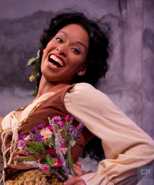 "Khetanya Henderson '14 MFA as Dorcas in ""The Winter's Tale."" (Courtesy of CRT)"