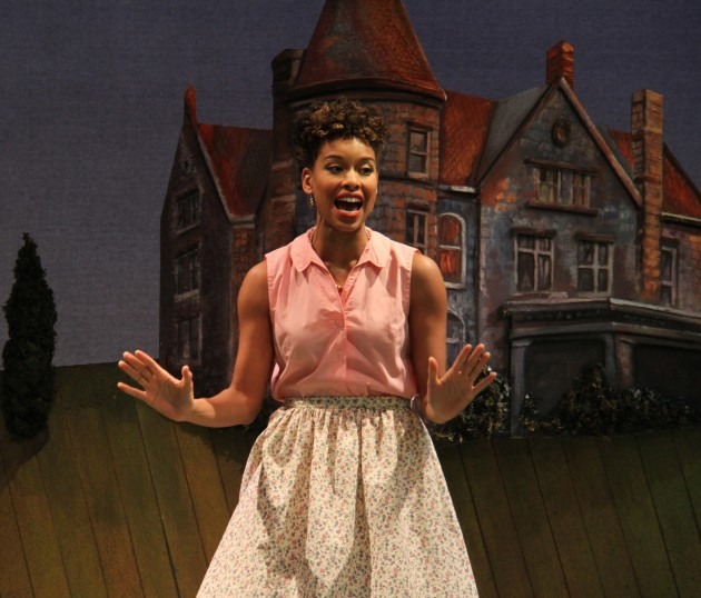 "Khetanya Henderson '14 MFA as Ursula in ""Much Ado About Nothing."" (Courtesy of CRT)"