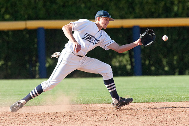 Nick Ahmed '11 has been called up by the Arizona Diamondbacks to start at shortstop. (File photo, Stephen Slade for UConn)
