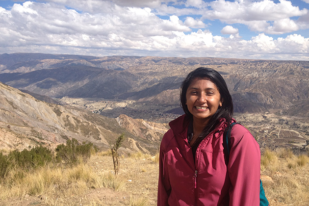 Graduate student Zareen Thomas, a doctoral candidate in anthropology.