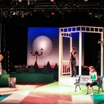 The London set in Act 2 of the Connecticut Repertory Theatre production of Cloud 9 designed by Kacey Skurja '15 (SFA), which runs from Oct. 23 to Nov. 2 in the Studio Theatre. (Tim Brown Photo for UConn)
