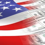 American flag with $100 bills. (iStock/UConn photo)