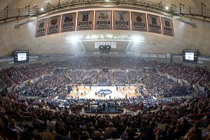 Gampel Pavilion on First Night, Oct. 17.