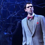 Nicholas Urda stars as the poet-playwright Federico Garcia Lorca in the Connecticut Repertory Theatre production of 'Olives and Blood,' written by Prof. Michael Bradford and directed by Prof. Gary English, at the Nafe Katter Theatre Oct. 2-12. (Gerry Goodstein for UConn)