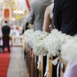 Beautiful flower wedding decoration in a church (istock/UConn photo)