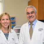 Drs. Danielle and Anthony Luciano are a father-daughter Ob/Gyn team at UConn Health. (Peter Morenus/UConn Photo)