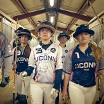 UConn polo players prepare for practice. (Angelina Reyes/UConn Photo)