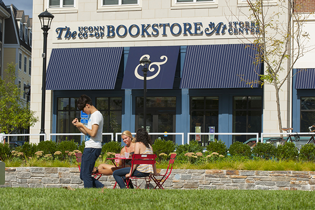 The UConn Co-op bookstore in Storrs Center in 2014. (Sean Flynn/UConn Photo)