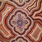 Detail from Ancestral Woman Dreaming 1990, acrylic on canvas, Colin Tjapanangka Dixon