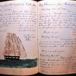 Ship's log of Brig Chenamus. (Courtesy of Newburyport Maritime Society Inc.)