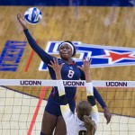 Volleyball player Immanuella Anagu '16 (BUS), a marketing major from Culver City, Calif. (Stephen Slade '89 (SFA) for UConn)
