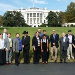 Jiff Martin, second from left, and fellow honorees in front of the White House. (Photo by Pam Jahnke)