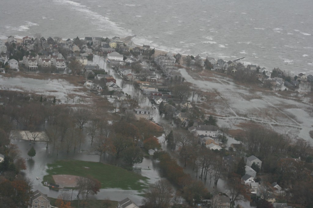 Hurricane Sandy hit Connecticut's vulnerable coastline in 2012. (Photo courtesy Conn. National Guard)
