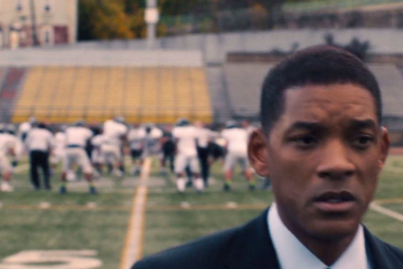 Actor Will Smith as Dr. Bennet Omalu in the movie 'Concussion,' about football-related head trauma.