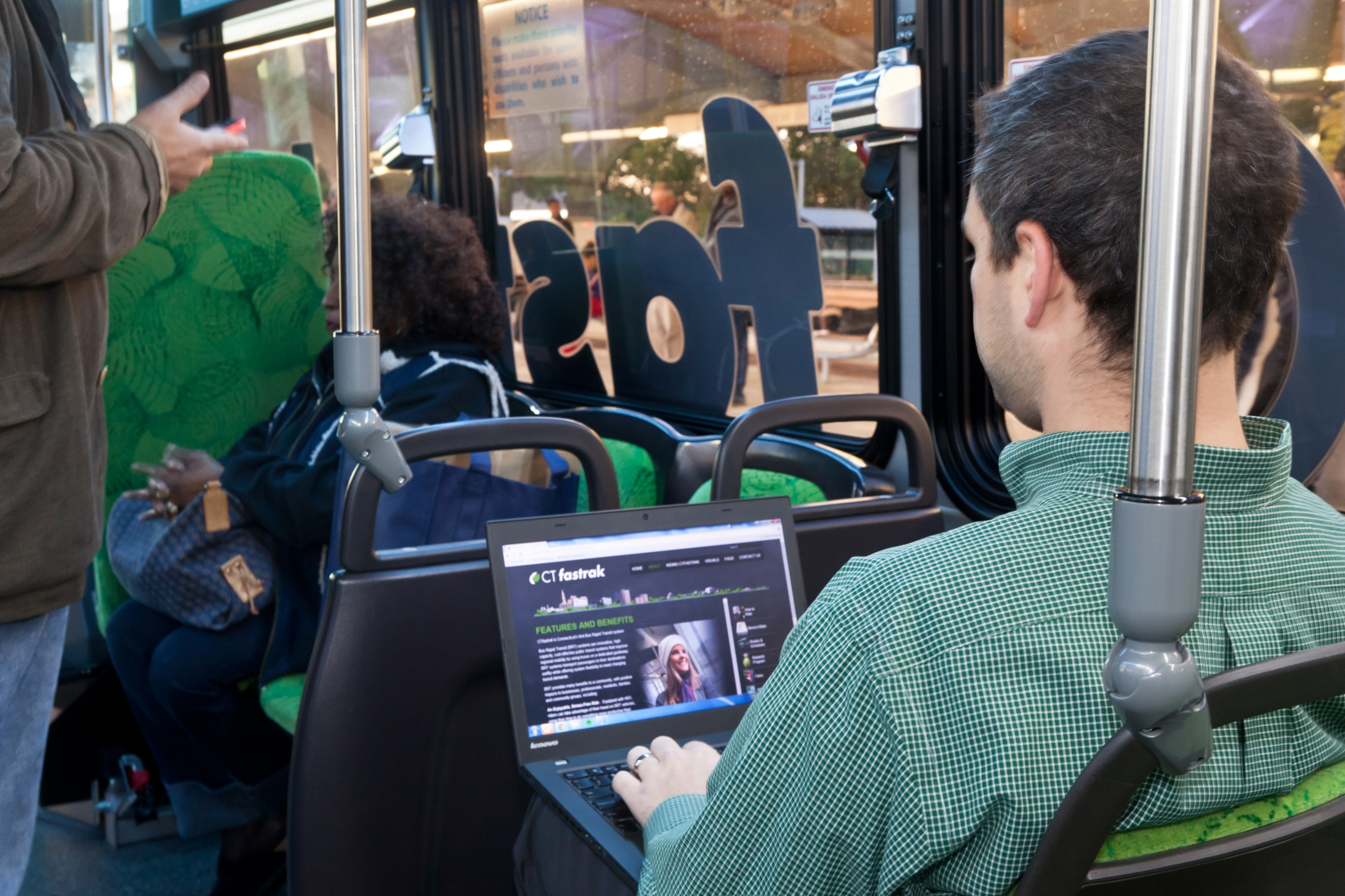 CTfastrak, Connecticut's first Bus Rapid Transit system, is a system of bus routes that use a bus-only roadway for all or a portion of the trip.