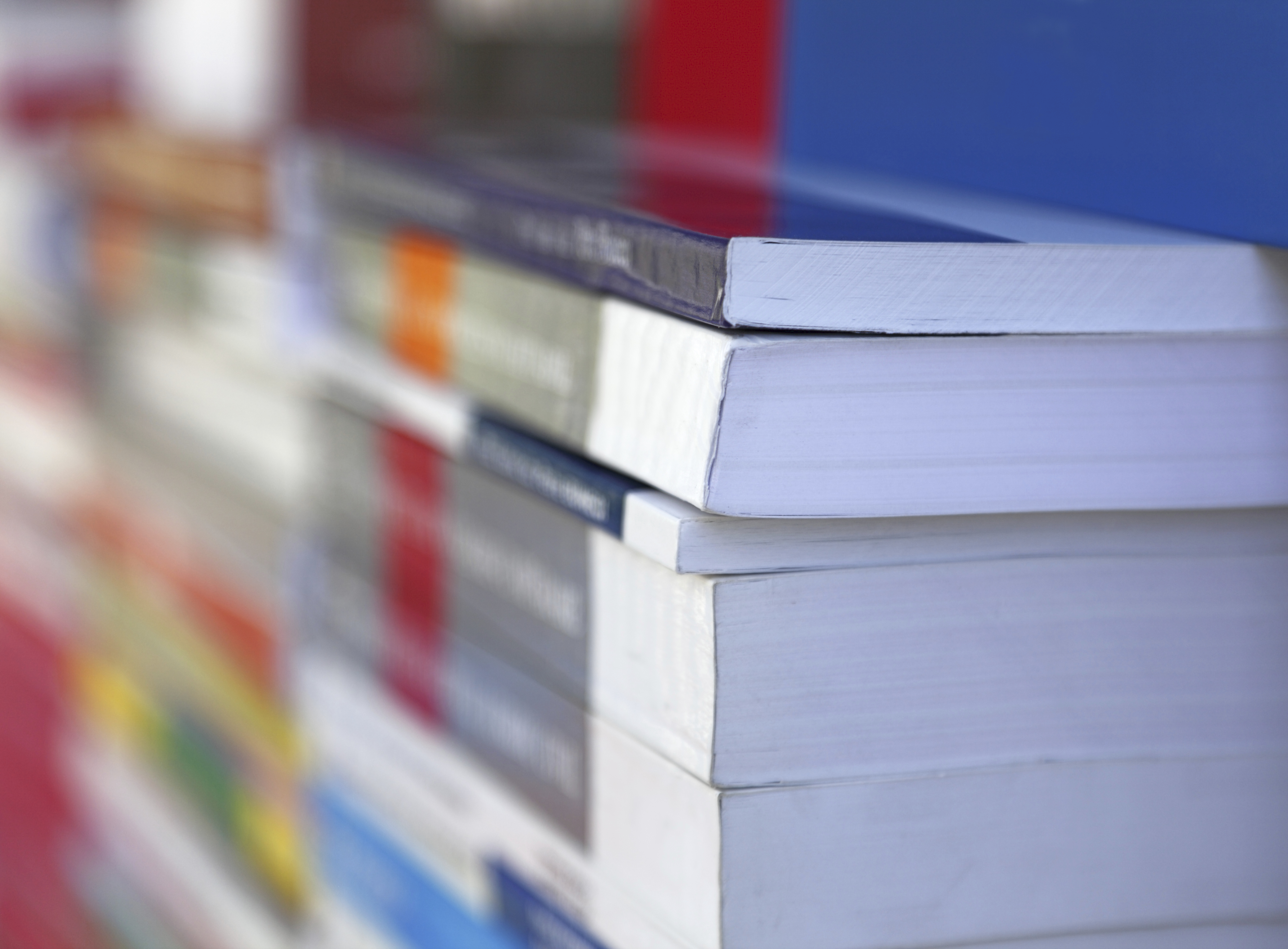 A pile of textbooks at a bookshop. (iStock Photo)