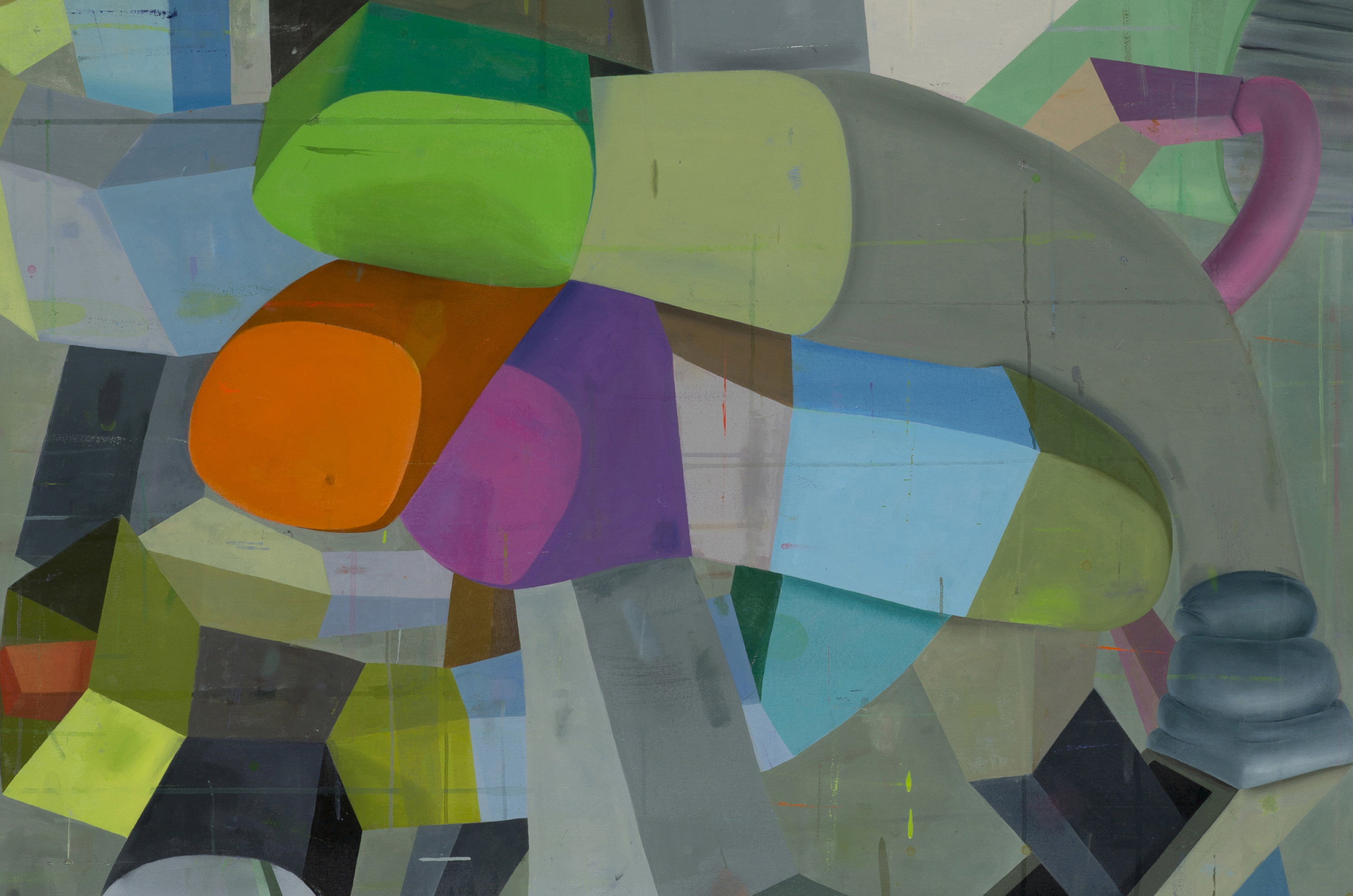 "Detail from ""Pittsburgh left,"" oil on canvas (2014), Deborah Zlotsky"
