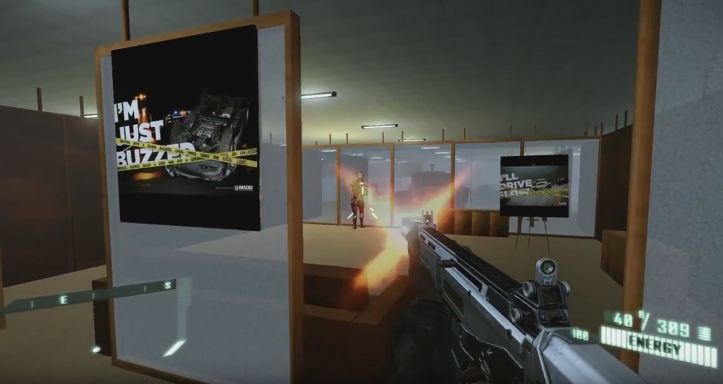 A screen shot from an interactive video game developed by Christopher Burrows, Ph.D. in the Department of Psychological Sciences.