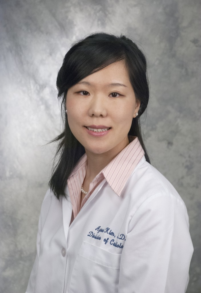Agnes S. Kim, M.D., Ph.D., specializes in a wide range of cardiovascular illnesses, including coronary artery disease, valvular heart disease, cardiomyopathy, and cardiac imaging. (Janine Gelineau/UConn Health Center Photo)