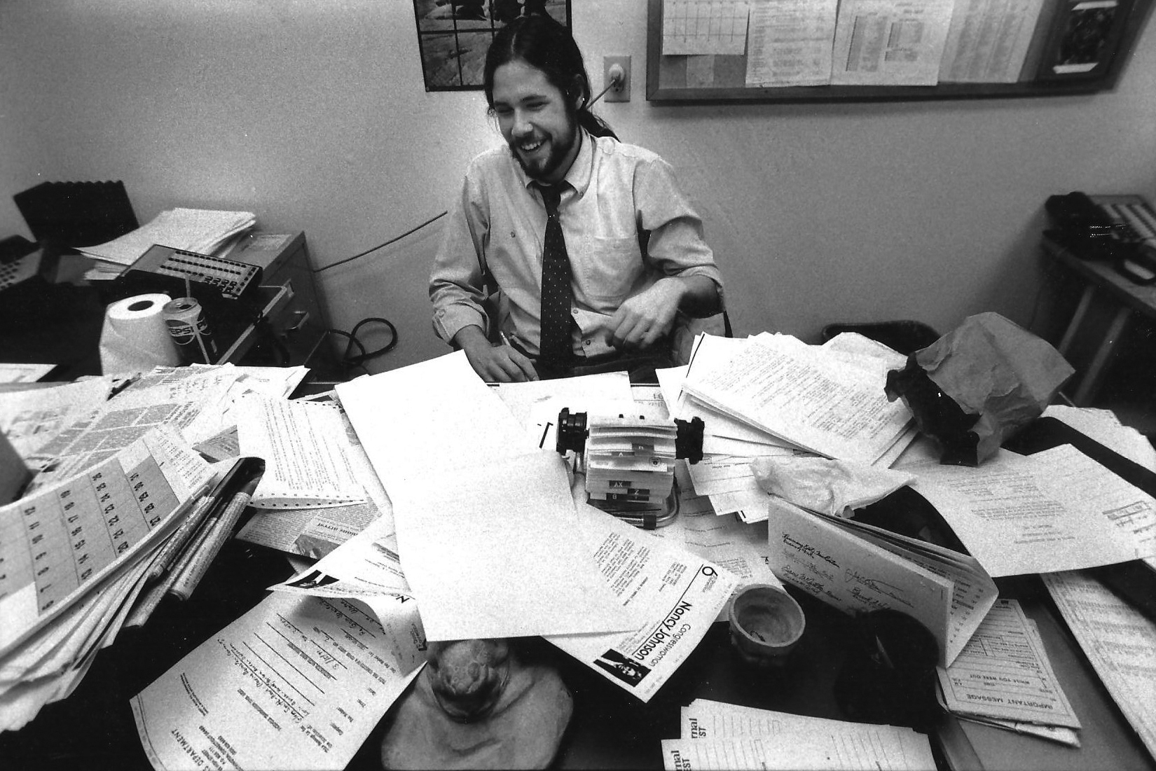 """To look like that and be a cop reporter, it really takes something,"" said Smith's first boss at Charleston's The Post and Courier. (UConn Magazine photo)"