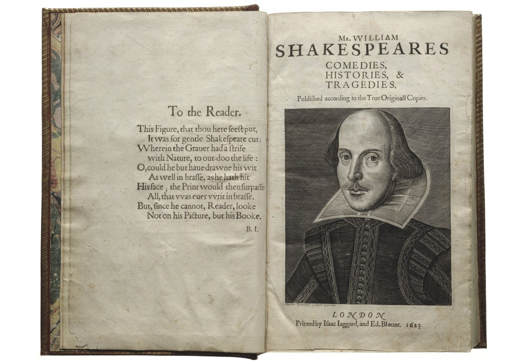 First Folio, title page.