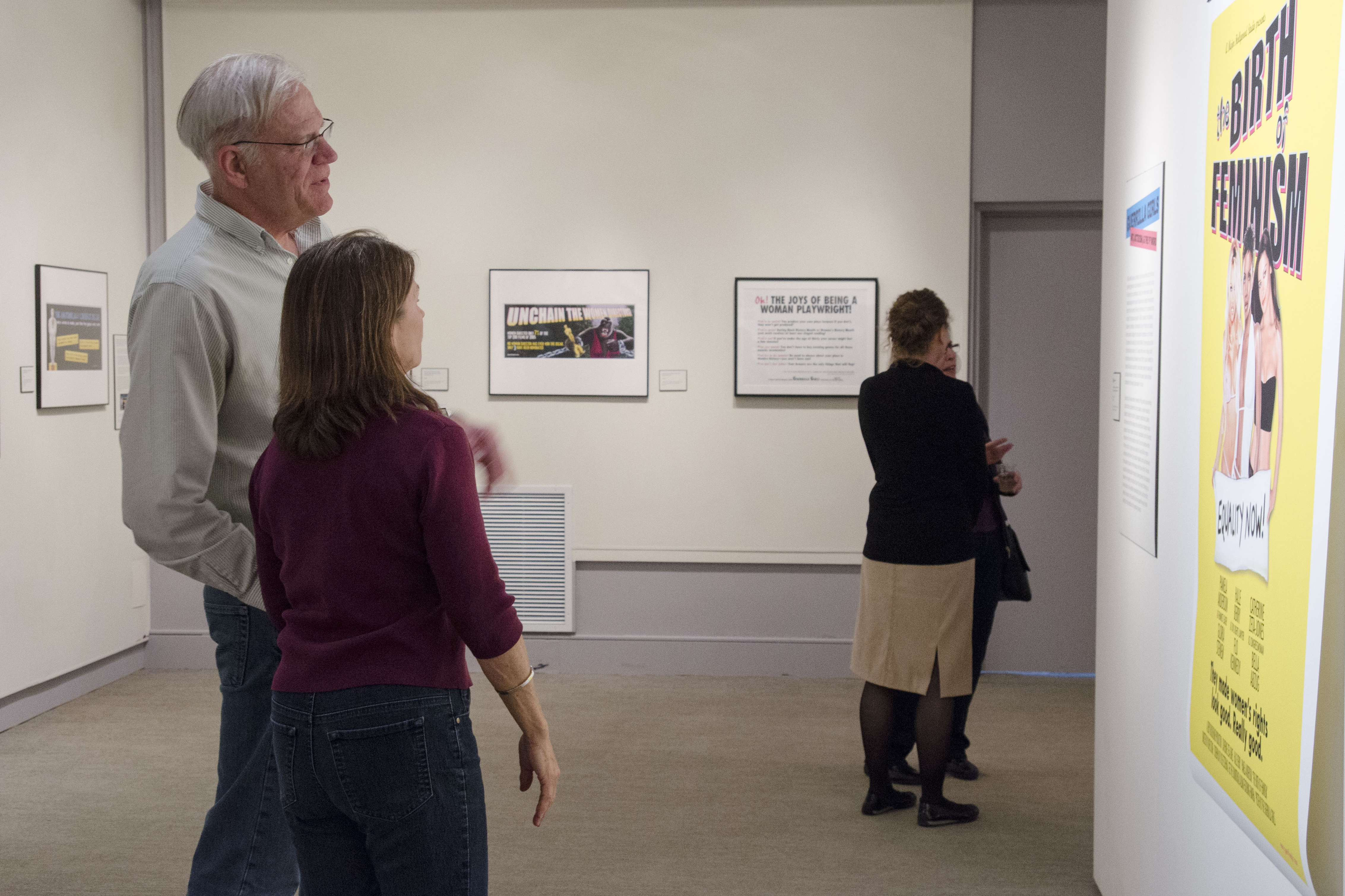 The Guerrilla Girls exhibition is on display at the Benton Museum of Art. (Amy Jorgensen/UConn Photo)