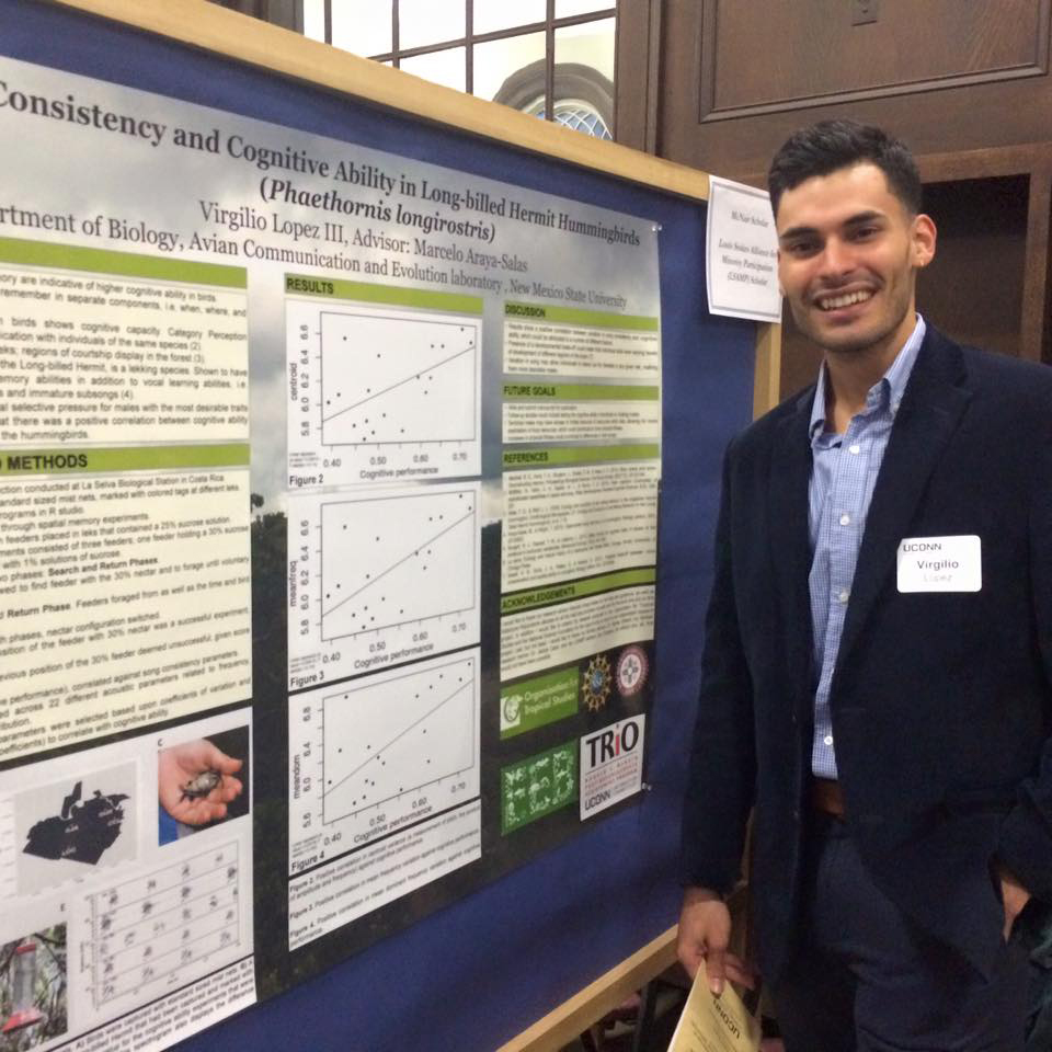 Virgilio López III '16 (CLAS) is a McNair Scholar with a major in ecology and evolutionary biology. (Photo courtesy of McNair Scholars Program)