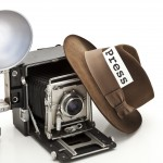 Vintage press camera with flash. (iStock Photo)