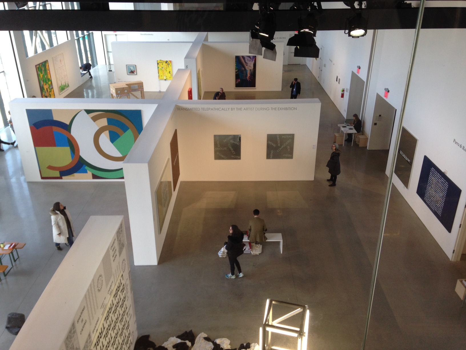 The Independent Art Fair was part of New York's Armory Arts Week attended by MFA students in Art & Art History. (Photo courtesy of students in ART 5310 Graduate Seminar)