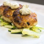 'Not So Crabby Vegan Crab Cakes with Remoulade Dressing.' (Gail Merrill/UConn Photo)