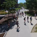 Welcome to UConn Nation. Students in the heart of campus. (Angelina Reyes/UConn Photo)