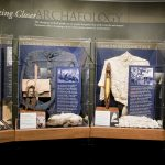 Clothing displayed to show the progressive change from pre-contact to current day Connecticut (in between are colonial and industrial).