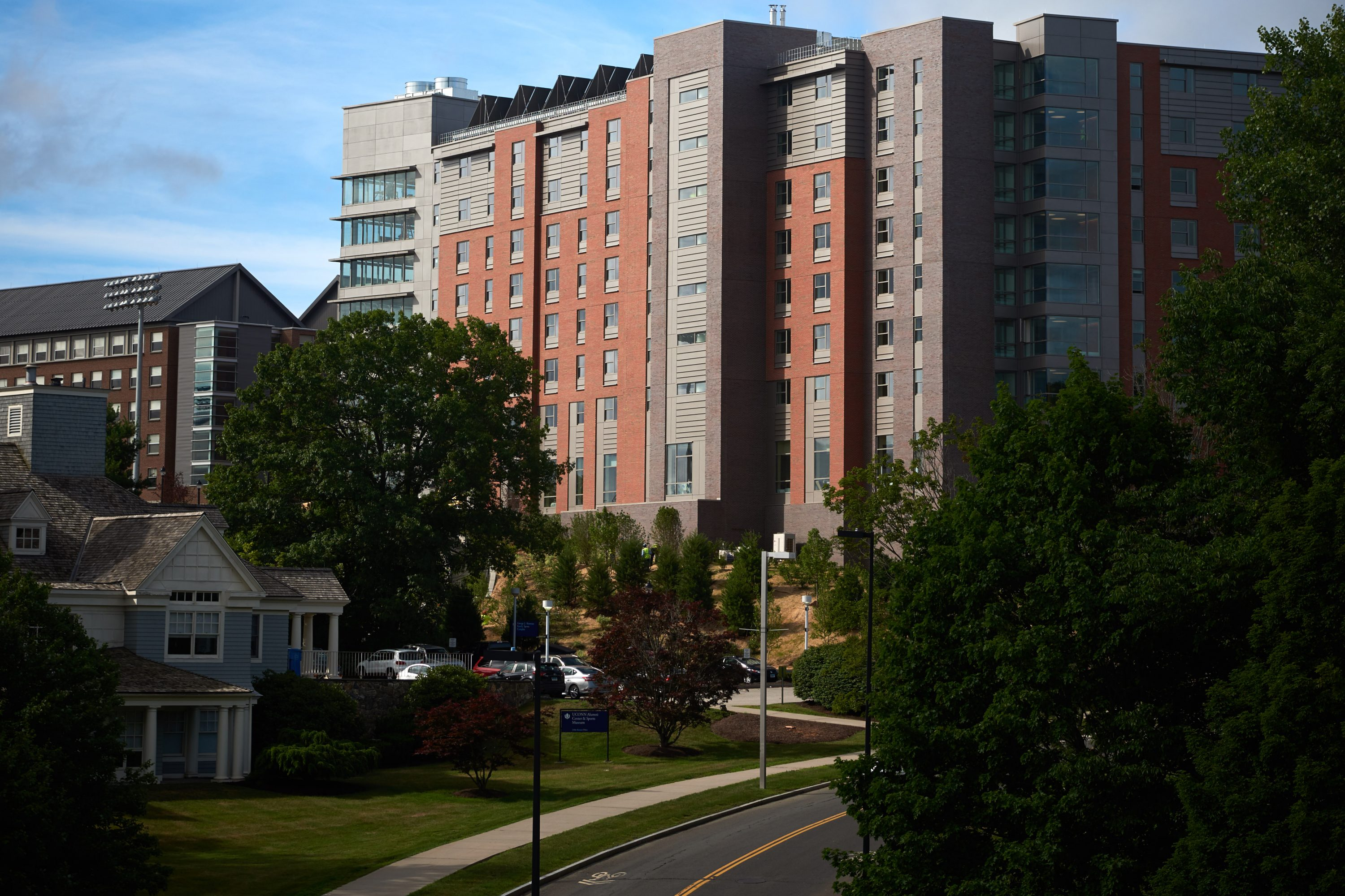 A view of the NextGen Residence Hall, under construction on July 11, 2016. (Peter Morenus/UConn Photo)