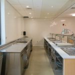 The kitchen in Putnam Refectory, like other UConn Dining Services facilities, uses EnergyStar equipment to conserve energy.
