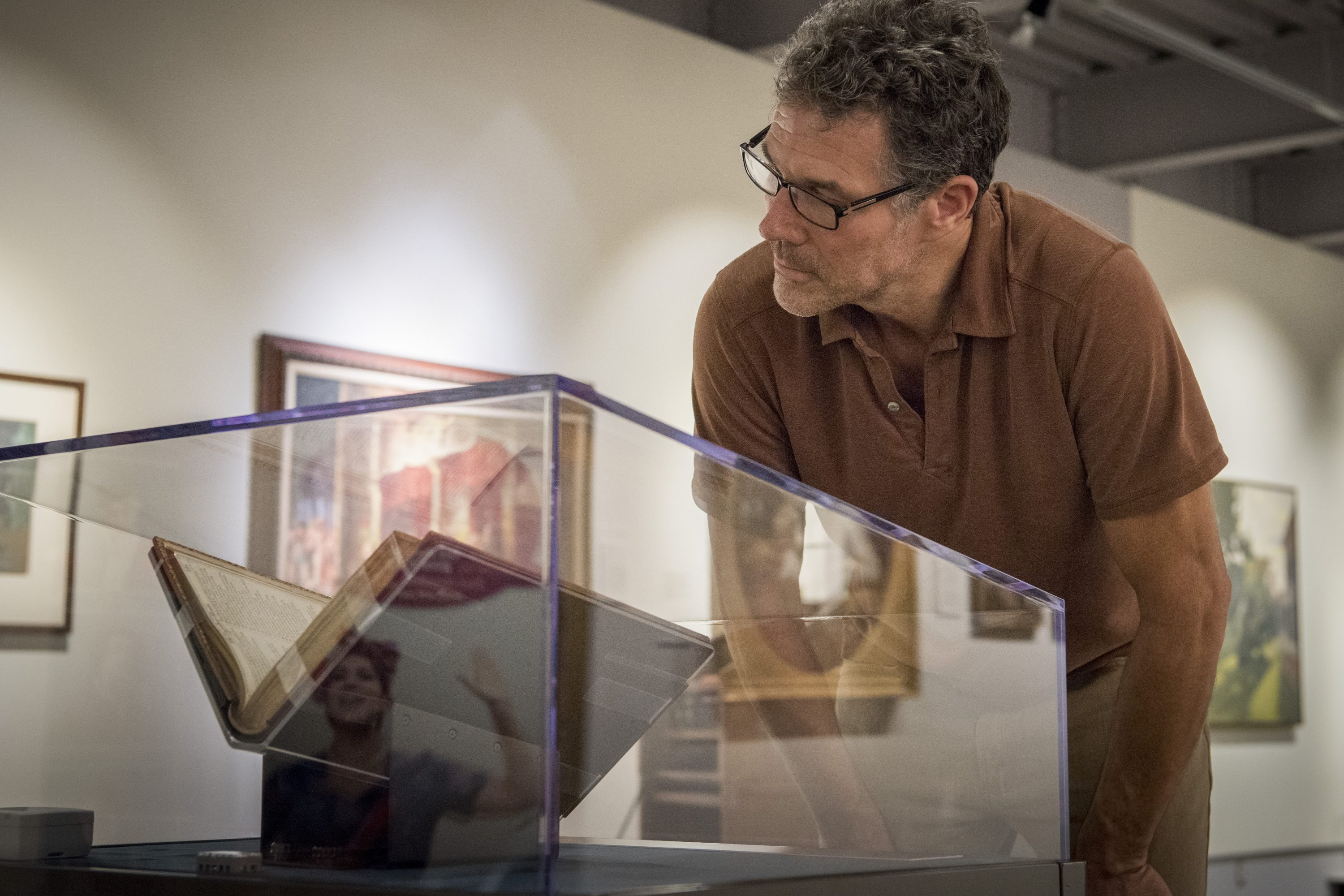 First Folio, Works by William Shakespeare on display at the Benton Museum on Sept. 1, 2016. (Ryan Glista/UConn Photo)