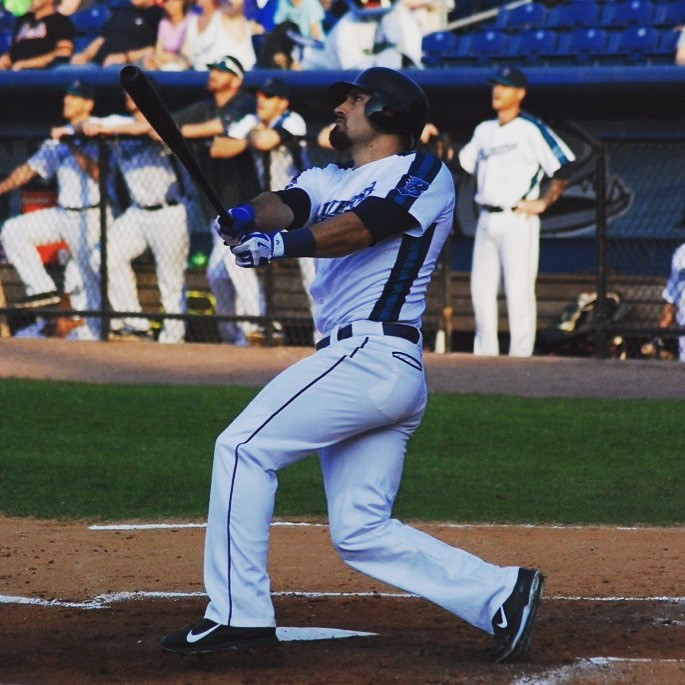 Anthony Giansanti, who plays with the Bridgeport Bluefish, underwent successful treatment for a hamstring injury at UConn Health. (Photo courtesy of Anthony Giansanti)