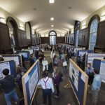 The Fall Frontiers in Undergraduate Research Poster Exhibition in Wilbur Cross South Reading Room on Oct. 26, 2016. (Ryan Glista '16 (CLAS)/UConn Photo)