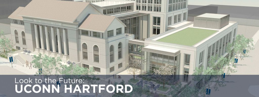 Rendering of the future downtown Hartford campus