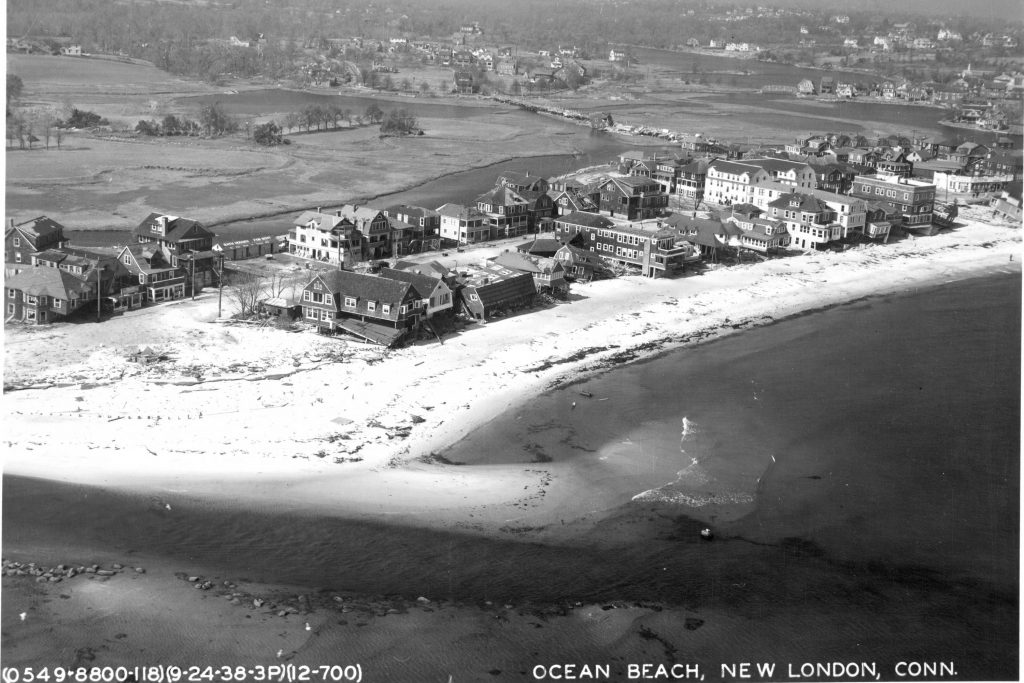 Comparing carefully aligned, scanned 1934 aerial photos with current aerial images reveals where the Connecticut shoreline has changed over time by both natural forces and human activity.