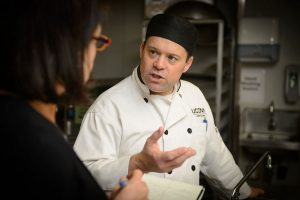 Rob Landolphi talks about dining services meal offerings