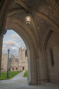 Archway at UConn School of Law. (Sean Flynn/UConn Photo)