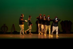 Kappa Phi Lamba and Pi Delta Psi perform during Asian Nite. (Peter Morenus/UConn Photo)