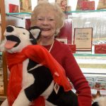 Husky Goes Red at Connucopia Gift Shop