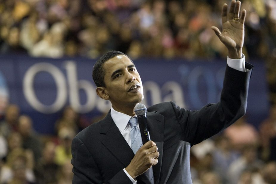 Barack Obama at a campaign stop in 2007. AP Photo/Nati Harnik