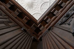 Architectural details of the Branford House. (Peter Morenus/UConn Photo)