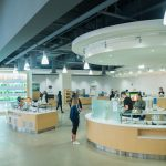 The newly renovated Putnam Refectory, one of eight dining halls certified as 'Green Restaurants' by the Green Restaurant Association. (Gail Merrill/UConn Photo)