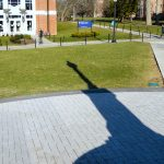 The Waugh sundial at the Storrs campus. (Emily Fitzpatrick/UConn Photo)