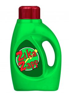 Zika Zapp is an insect repellent-laced laundry detergent designed to combat the spread of Zika and other mosquito-borne viruses. The concept was devised by a group of nursing students, and developed with the help of a student in chemistry.